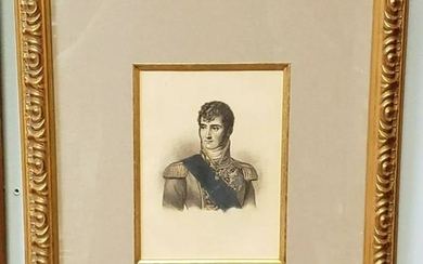 Circa 1880 Framed Jerome Bonaparte Photo-Etching After