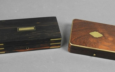 FITTED CUTLERY BOX & SIGNED BOX