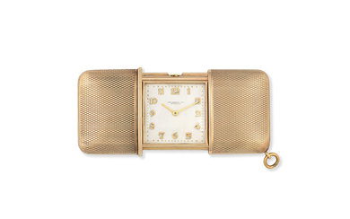Movado. A 9K gold manual wind purse watch, Retailed by Hausmann & Co
