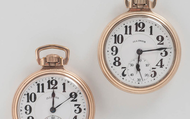 "Two Illinois ""Bunn Special"" Open-face Watches"