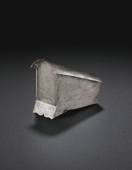 A SMALL SILVER RELIQUARY, 10TH CENTURY