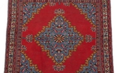 Semi-Antique Very Fine Hand-Knotted Mahal Square Carpet