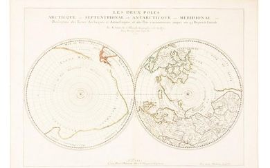 Sanson map of north & south poles 1657