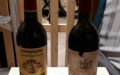 Mixed lot - 1961 Chateau Montrose & 1988 Chateau l'Angelus- Saint-Emilion, Saint-Estèphe Grand Cru Classé - 2 Bottles (0.75L)