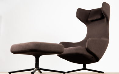 Antonio Citterio, Vitra, chair / lounge chair and stool / ottoman, model 'Grand Repos', designed in 2011