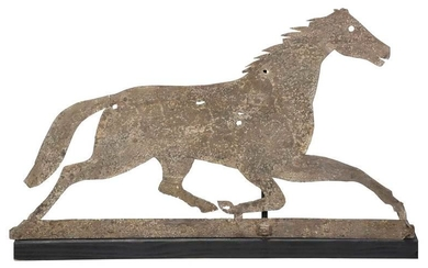 American Folk Art Sheet Metal Horse Weathervane