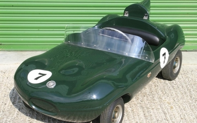 "A Cheetah Cub ""D-Type"" Jaguar child's Car by Watsonian, late 1960s,"