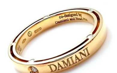 Damiani Brad Pitt 18k Yellow Gold 11 Diamond 3mm Band