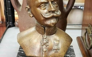 Early 20th Century Kasier Wilhelm III Bronze Bust on