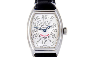 FRANCK MULLER - a lady's stainless steel Conquistador wrist watch.