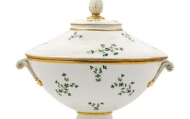 A French Porcelain Tureen and Cover 19TH CENTU