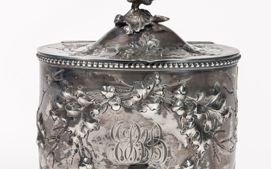 Jones, Ball & Co. Coin Silver Tea Canister