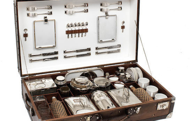 A large cased picnic set for six-persons, pre-War,