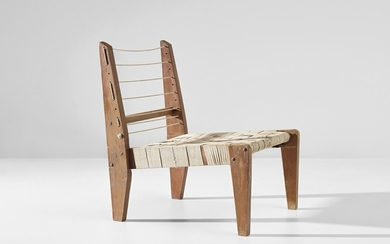 Pierre Jeanneret, Demountable easy chair, model no. PJ-SI-08-A, designed for the architect's own house, Chandigarh