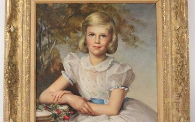 Oil on Canvas, Portrait of Girl, Louise Alston