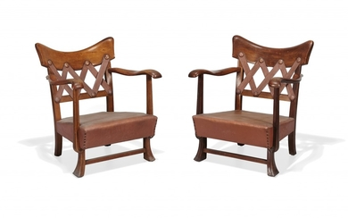TWO ARMCHAIRS FOR VITTORIO VALABREGA 1940S