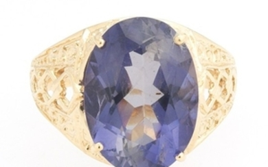 Ladies' Iolite and Gold Ring