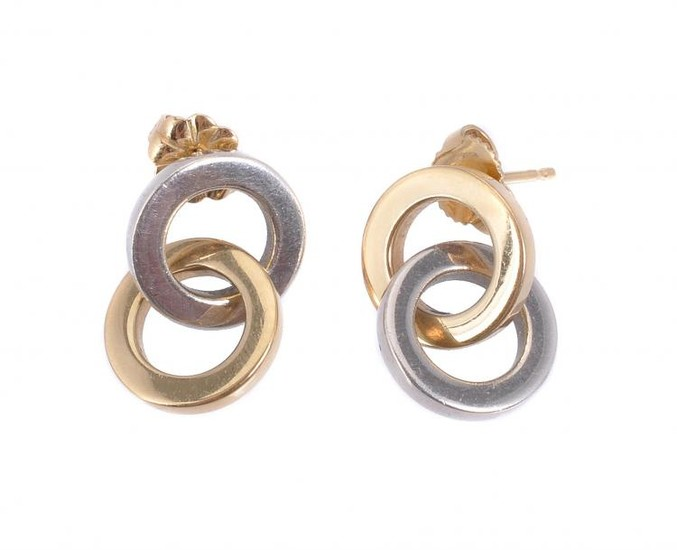 A pair of earrings by Tiffany & Co.