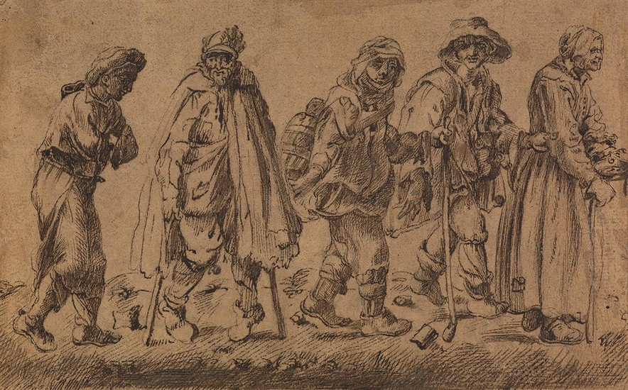 JACQUES CALLOT (FOLLOWER OF) (Nancy 1592 1625 Nancy) A Group of Beggars (The Blind Leading the Blind).