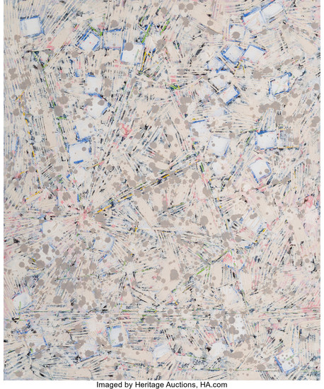 Lee Mullican (1919-1998), Space in Mind, Series 1 Star Chart (1985-86)