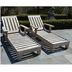 Lot Art Smith Hawkins Teak Wooden Adjustable Lounge Chairs