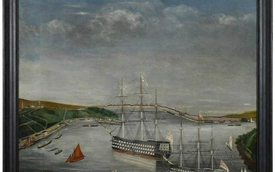 Naive British School Maritime Painting