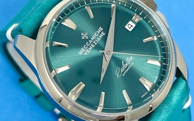 Meccaniche Veneziane - Automatic Redentore 36mm Turchese with Extra Milanese Mesh Band - 1205008 - Unisex - BRAND NEW