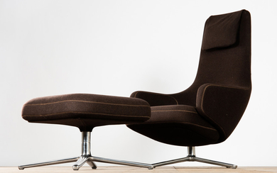 Antonio Citterio, Vitra, chair / lounge chair and stool / ottoman, model 'Repos', designed in 2011