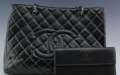 Chanel Grand Shopping Tote & Pocket Book Wallet