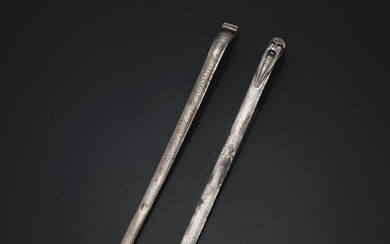 TWO SILVER HAIRPINS, MING-QING DYNASTY, 17TH-18TH CENTURY