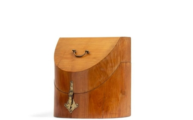 A George III fruitwood knife box