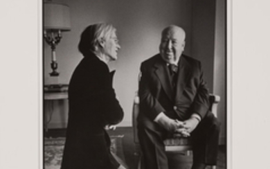 KREMENTZ, JILL (b. 1940) Andy Warhol and Alfred Hitchcock,