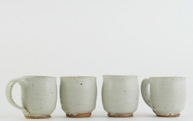 Set 4 Warren MacKenzie Studio Pottery Mugs