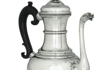 A silver coffee pot, Florence, 1755/60