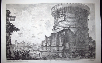 Piranesi, Giovanni: THE MAUSOLEUM OF THE PLAUTII, NEAR TIVOLI, Year 1765