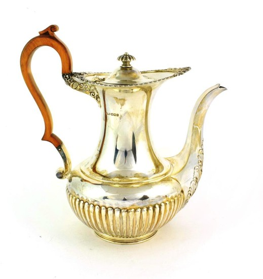A George V Silver Coffee-Pot by James Dixon and Sons,...