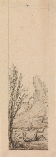 ANTOINE DIEU (ATTRIBUTED TO) (Paris 1662 1727 Paris) Three pen and ink, wash and pencil drawings.