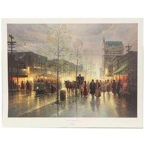 "G. Harvey Offset Lithograph ""Dallas ~ The Early Years"""