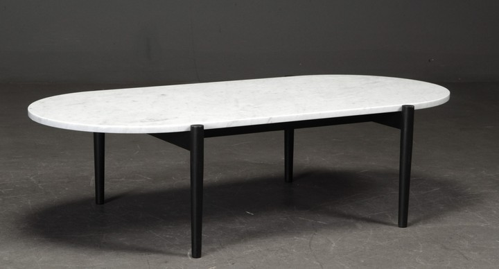 Sofa table, 'Septembre Coffee table' white marble
