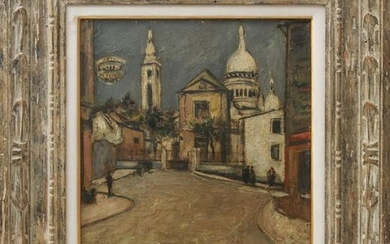 "Maurice Utrillo ""Montmartre"" Oil on Board"