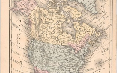 """No. 4 Map of North America Engraved to Illustrate Mitchell's School and Family Geography"", Mitchell/Young"