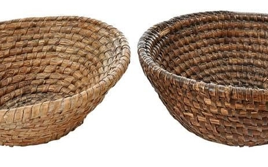 Two Rye Straw Baskets from Colonial Williamsburg