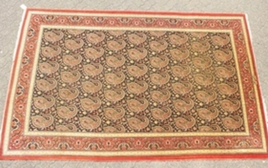 A VERY FINE PERSIAN QUM CARPET with silk foundation, a