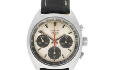 Heuer. A stainless steel manual wind chronograph wristwatch