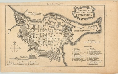 "NO RESERVE, ""A Plan of the City & Fortifications of Louisburg"", Anon."