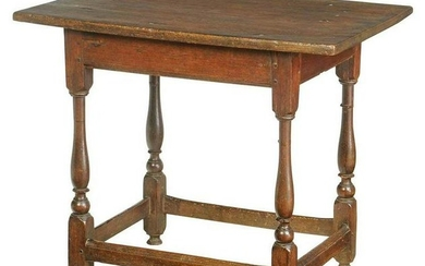 Rare Early Southern Stretcher Base Tea Table