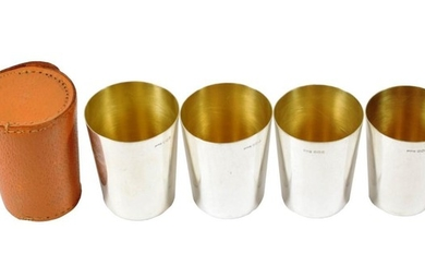 A Set of Four Elizabeth II Silver Stacking Beakers, by...