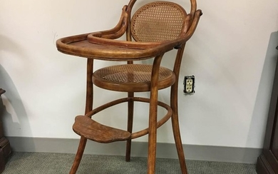 Thonet-style Bentwood High Chair, ht. 38 in.