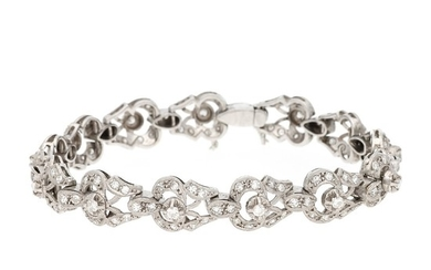 Diamonds bracelet, mid 20th Century.
