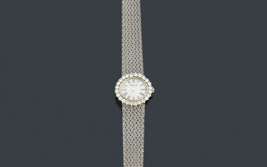 OMEGA ladies' with case and band in 18K white gold with